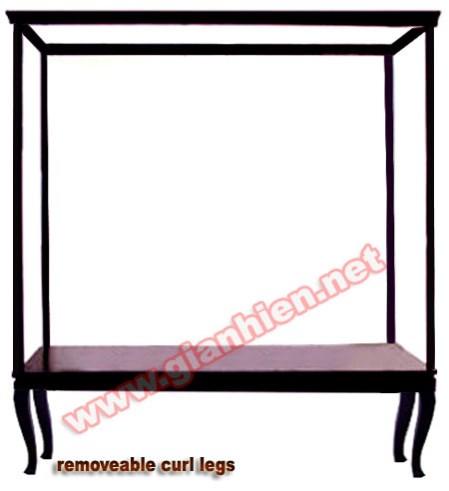 Display Case W Curl Legs