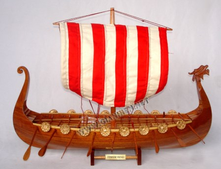 Drakkar Viking Boat Model