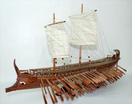 Trireme Boat Model