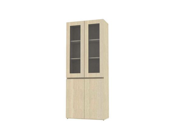 High wooden cabinet