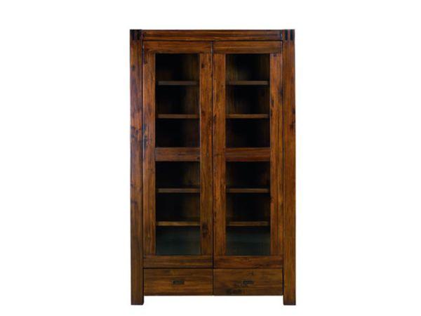 Glass door bookshelf Kandia