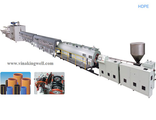 HDPE pipe extrusion machine