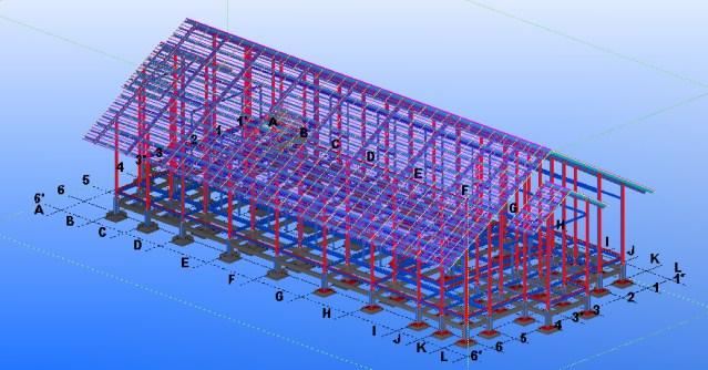 Prefabricated steel frame house