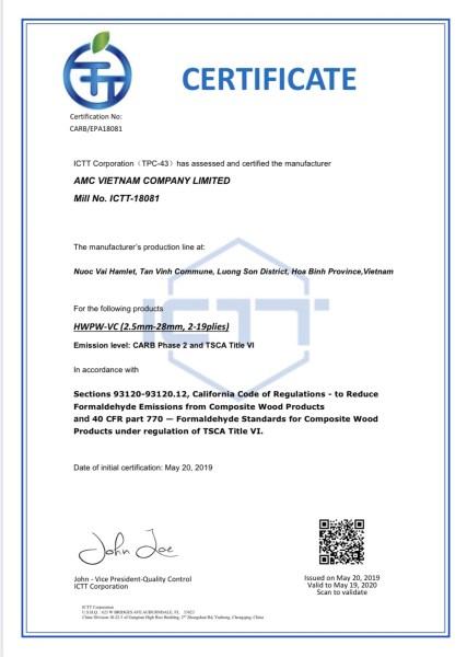 EPA Carb Phase 2/TSCA Title VI