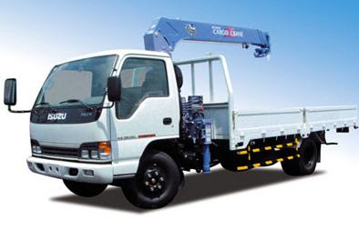 Crane truck transport