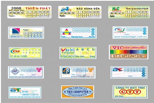 Decal label printing