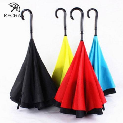 Straight rain reverse inverted umbrella