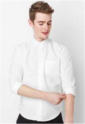 White-collar white shirt
