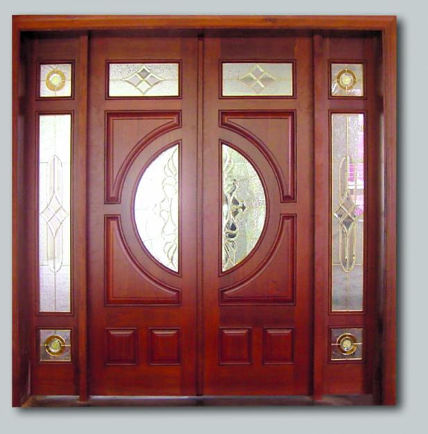 Natural wooden door