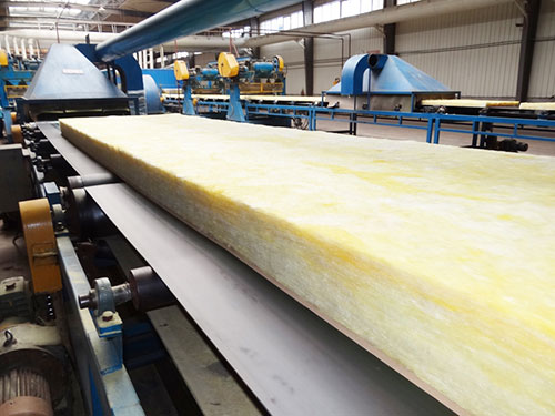 Glass wool production line