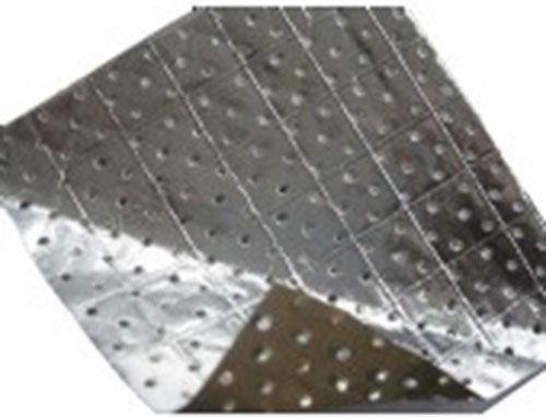 Perforated alum foil
