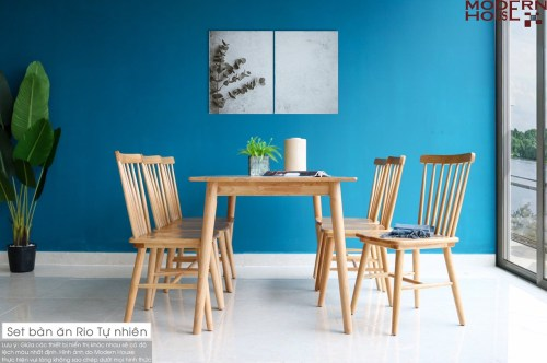 Rio Dining Table Set - Nature