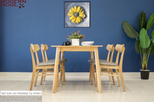 Marible Dining Table Set - Nature