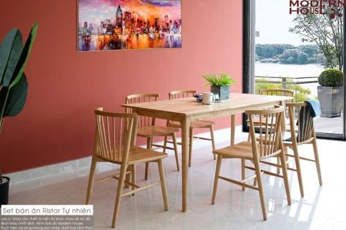 Ristar Dining Table Set - Nature