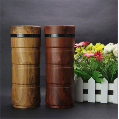 Wooden thermos bottle