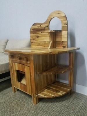 Children`s wooden kitchen