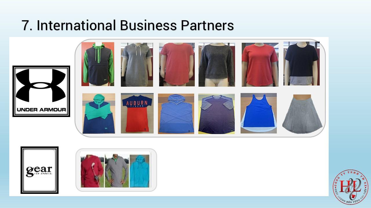 Export processing garment