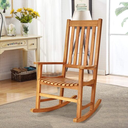 Acacia rocking chair
