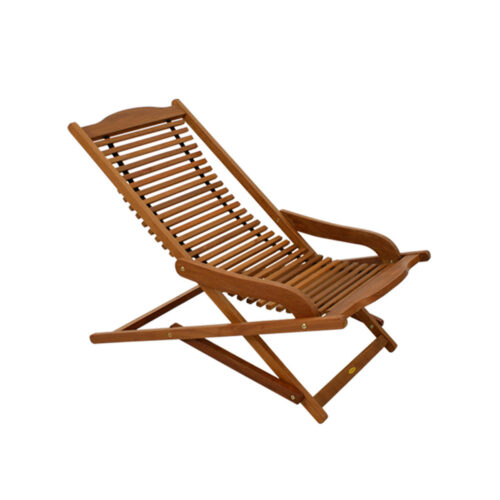 Relaxing wooden rocking chair